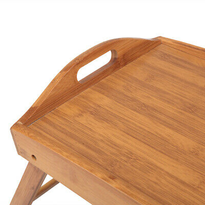 Folding Wood TV Tray Breakfast Dinner Table Coffee Stand Serving Snack Tea Tray