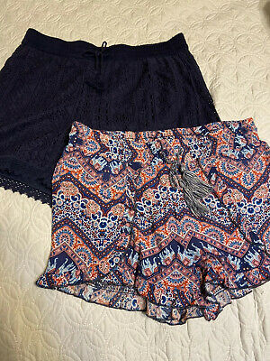 Two Pairs Of Casual Shorts Girls Size 14/16