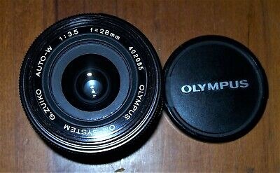 """""""Vintage Olympus 1:3.5  28mm Lens"""" C1979 , Excellent Pre-Owned Condition !"""