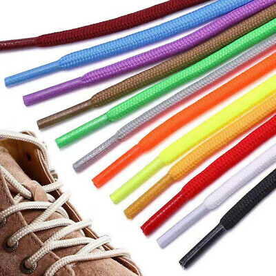 1Pair 5mm Colorful Round Shoelaces Athletic Sport Sneaker Strings Shoe Lace