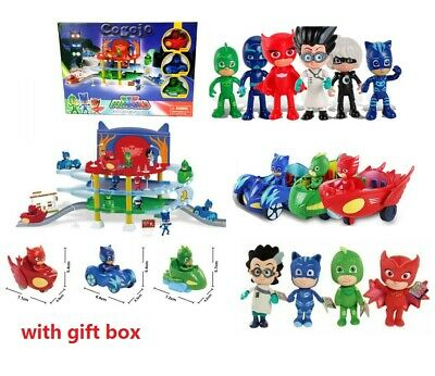PJ Masks Catboy Owlette Gekko Parking Lot Action Figures WITH BOX Toys Kids Gift