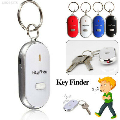 Whistle Lost Key Finder Flashing Beeping Locator Remote chain LED Sonic torch HW