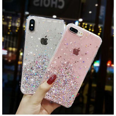 Bling Glitter Case For iPhone Clear 11 Case Gel Soft Phone 6 7 8 XR XS Max Cover