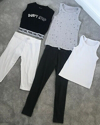 Girls Next Leggings And Vest Crop Top Bundle Age 10-11 Years And Age 11 Years