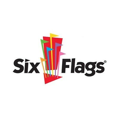 FOUR (4X) 2019 Six Flags Theme Park Single Day General Admission Tickets