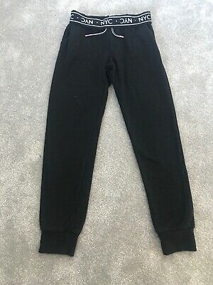Girls Black Jogging Bottoms Joggers H&M Age 11-12 Years