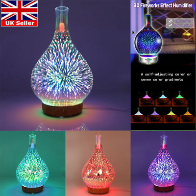 UK Air Diffuser LED Ultrasonic Aromatherapy Essential Oil Aroma Humidifiers Home