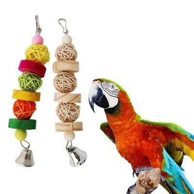 Parrot Chew Strands Wooden Bird Parakeet Bite Molar Toys Rattan Ball Newest