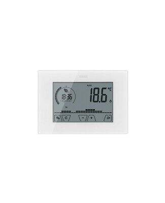 Thermostat Programmable Touch Vimar 02910 Mur Batterie Blanc Hebdomadaire