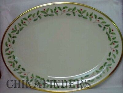 """LENOX china HOLIDAY Dimension pattern Oval Serving Platter - 16-1/8"""""""