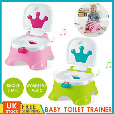 Portable Kids Baby Toilet Seat Toddler Training Potty Trainer Safe Chair Urinal