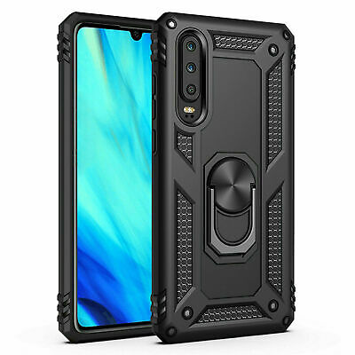 huawei P Smart 2019 Shockproof Military Case Cover Armor 360 Stand Ring Holder
