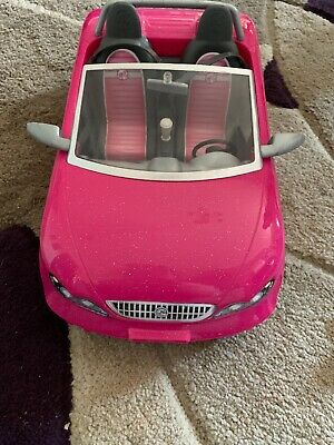 Barbie Glam Convertible Car .. With Ken .. And His Outfits