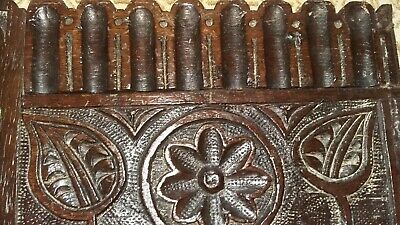 english,large carved wooden.oak panel,18th century.from a chest or coffer