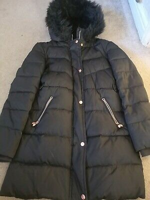 Black Girls Ted Baker Padded Winter Coat, Size 13 Yrs, Hardly Worn