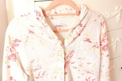 Cath Kidston Pink and White Floral Pyjama Top Size Small
