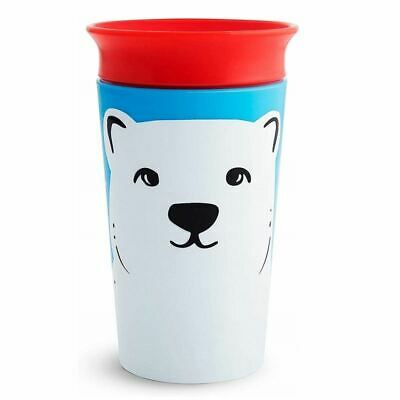 12m+ 3068 Orca//Polar Bear Munchkin Miracle 360 WildLove Sippy Cup Twin Pack
