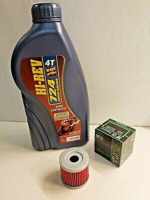 Sachs Xtc 125 4T 02-10  Engine Oil And Filter Service Kit Mf131 Filter 10W40 Oil