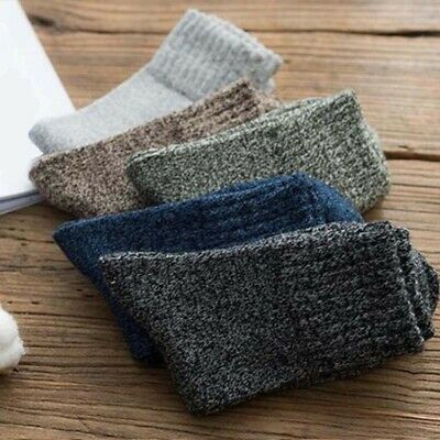 Soft Solid Casual Winter Sports New 5 Pairs Warm Thick Cashmere Socks Wool Men