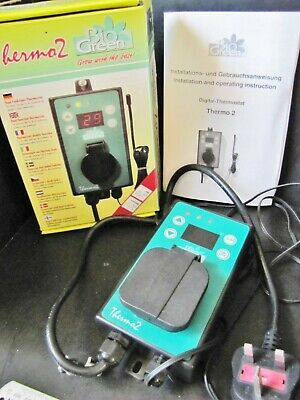 Used Bio Green Thermo 2 Dual Function Greenhouse * THERMOSTAT * (Winter/Summer)