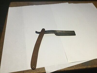Vintage WADE & Butcher Famous Keen BOW Straight Razor Wood Handles