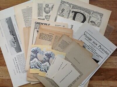 50 French old book pages Dictionary novels scrapbooking projects