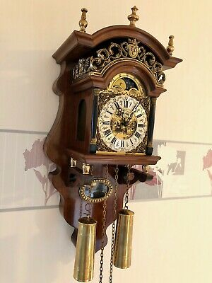 A Magnificent Original Old Dutch Amsterdam Notary Wall Clock