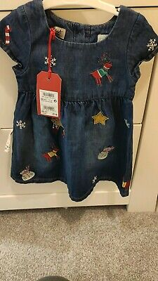 Next Baby Girls Christmas Dress Outfit Brand New Bnwt 3-6 Months RRP £14