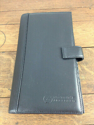Tumi Modernist Black Leather Travel Document Passport Wallet Case #WH-2