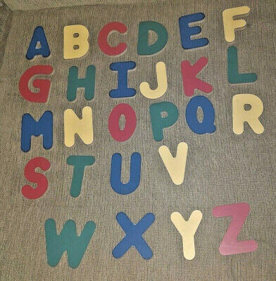 "Wooden Alphabet Letters { Great for teaching!} A thru Z approx 3"" tall"