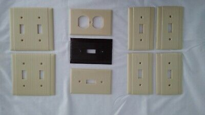 Vintage Bakelite Toggle Switch/Outlet  Plate Covers NOS (9 pcs)