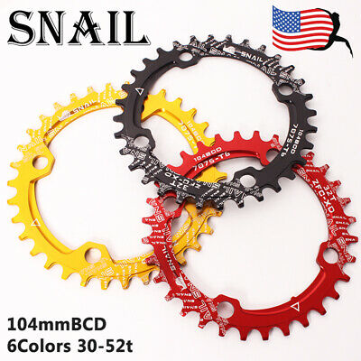 Fouriers 104bcd Chainring Round 30T 40 52 54T Narrow Wide Tooth for Shimano Sram