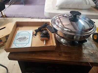 """Amway model 600 TABLE CHEF""""  STAINLESS STEEL ELECTRIC SKILLET"""