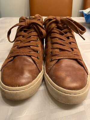 marks and spencer Boys Tan Leathet/suede Chuka Boots/ Trainers Used Size 4