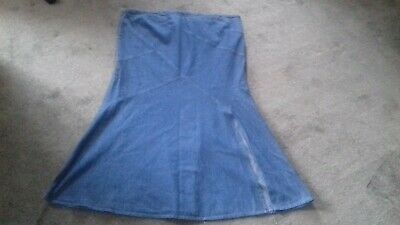 Ladies Size 16 Long Maternity Denim Style Skirt By George
