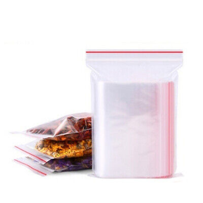 Self Adhesive PE Pouch Zipper Plastic Poly Clear Jewelry Zip Bags Ziplock Bag