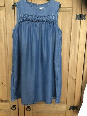 Girls Dress , Age 10 Years (140cm), Colour Blue , From Next , Pre Owned .