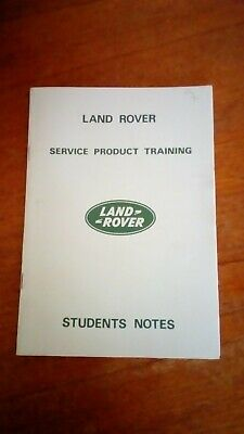 Vintage land rover students notes  Book