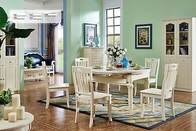 Classic Colonial Antique Style Dinner Set Table+6 Chairs Dining Room Chair New