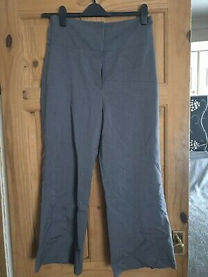 Ladies Girls High Waist Grey Smart Trousers Sz 14 By Select Ex Cond