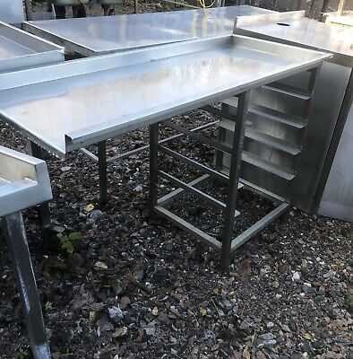 Stainless Steel Commercial Pass through Dishwasher Table.