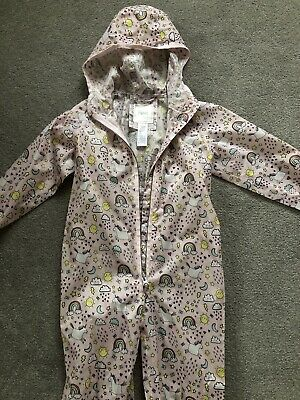All In One Waterproof Puddle Rain Suit Girls Age 4-5 yrs NEXT Unicorns Rainbows