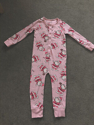 Girls NEXT one piece all in one pyjamas age 4 *Christmas* *Santa*