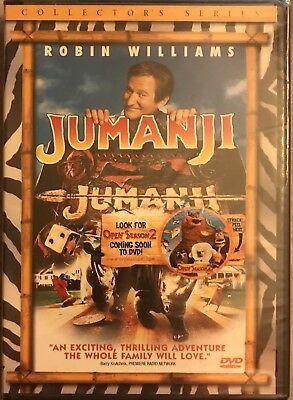 Jumanji Collectors Edition DVD Robin Williams Classic Board Game Movie SEALED