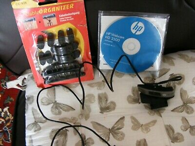 H.P. Computer camera . With Disc and User Manual, Free Card of Cable Ties.