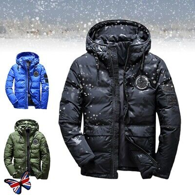 Outdoor Mens Winter Camouflage Warm Jacket Padded Down Ski Snow Thick Coat