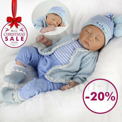 "22""/55Cm Silicone Reborn Doll Real Life Like Looking Newborn Baby Boy Dolls Uk"