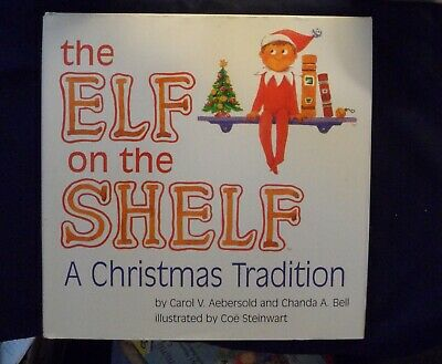 THE ELF ON THE SHELF ~ Hardcover *BOOK ONLY* Brown Hair & Eyes BOY  ~ Christmas