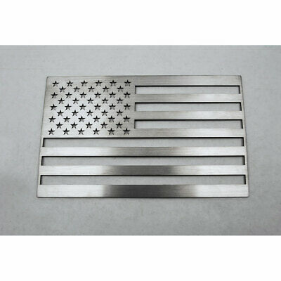 ACC Driver Side Flag Emblem-1pc Stainless Steel/Brushed