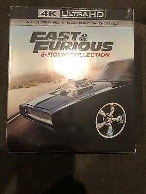 Fast & Furious: 8-Movie Collection 4K UHD Blu-Ray + Digital NEW Sealed Ultra HD